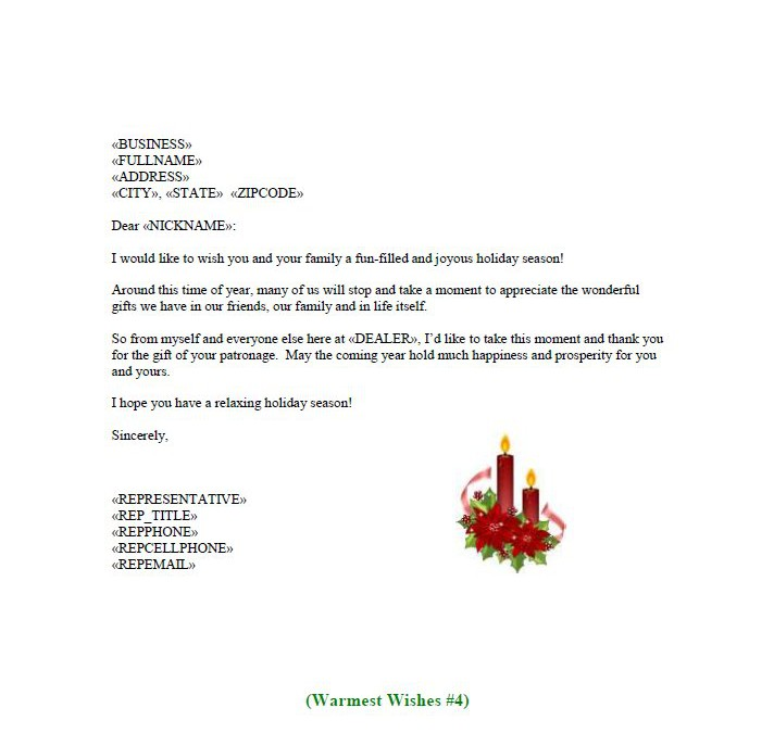 Holiday Letter   Proresponse Inc